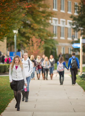 Misericordia University Students Walking