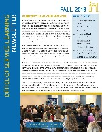 Fall 2018 Service-Learning Newsletter