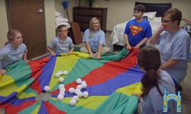 Autism center tarp game
