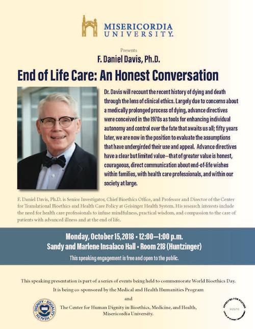 F. Daniel Davis, Ph.D. Event