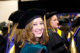 Misericordia graduate smiling