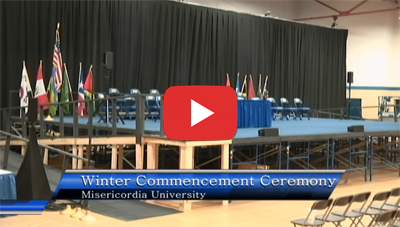 View December 2019 Commencement on Misericordia's YouTube page
