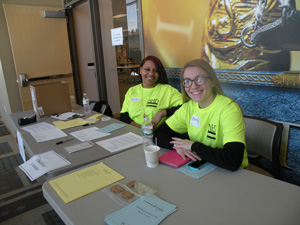 Student volunteers at National History Day