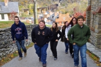Dr. Carso's students in Harper's Ferry, VA