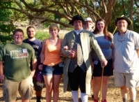 Students with Dr. Carso in Colonial Williamsburg, VA