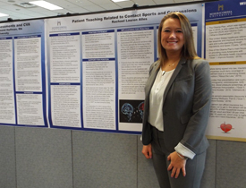 Rachael Lauren Alles presents research on Patient Teaching Related to Contact Sports and Concussions