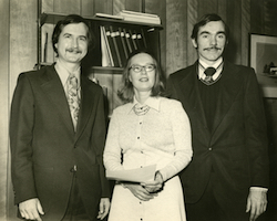 Tom O'Neill; Patricia Lewis; Joe Kuna, social work faculty; circa 1970s