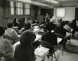 Sister Marie Turnbach and social work faculty; circa 1970s