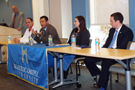Sport Management Round Table guest panel- click here to view the Flickr gallery from the event