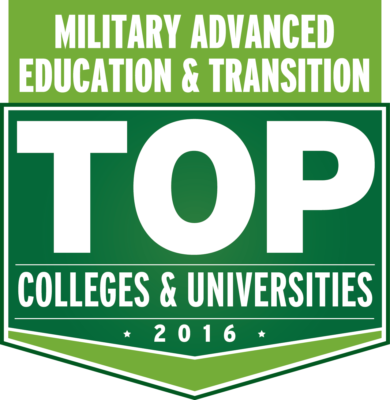 Military Advanced Education & Transition Top Colleges & Universities 2016