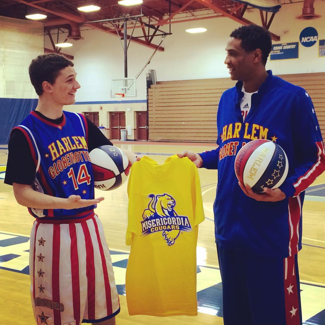 Mike Gombita and Harlem Globetrotters