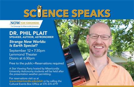 Dr. Phil Plait - Science Speaks event details