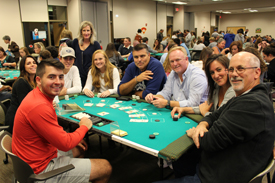 Casino Night during Family Weekend