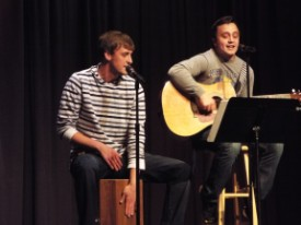 Male performers at talent show