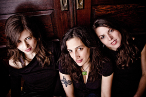 The Wailin' Jennys are, from left, Ruth Moody, Nicky Mehta and Heather Masse.
